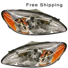 Halogen Head Lamp Assembly Set of 2 Pair LH & RH Side Fits 2000-2007 Ford Taurus