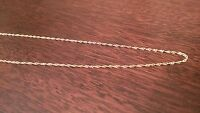 """10K YELLOW GOLD 20"""" INCH SINGAPORE NECKLACE  PENDANT CHAIN  1.1 mm"""