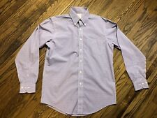 Brooks Brothers Mens Long Sleeve Button Front Dress Shirt Size 15 34/35