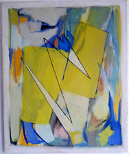 LEGADO DE ARTISTA: COMPOSICIÓN ABSTRACTA EN AZUL, amarillo y verde, 1994