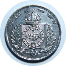 BRAZIL 200 REIS 1862 AUNC KM#469 M2