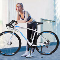 2021 Road Bike Shimano 21 Speed Bicycle 700C Mens Bikes Disc Brakes Full Cycling