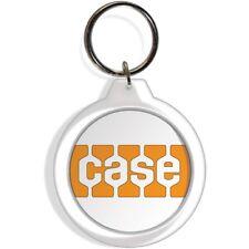 Case Garden Tractor Farm Lawn Rider Mower Keychain Key Ring orange Part Gift