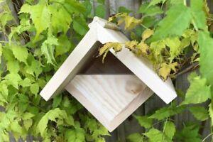 Pine Robin Box | Bird House Garden Nest Small Wooden Hanging Robins Nesting UK