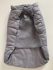 Mungo & Maude Beetle Dog Puffer Coat Grey 45cm RRP £154 Merino Wool Chest
