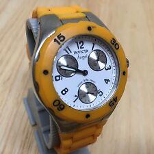 Invicta 0696 Angel Lady Orange Analog Quartz Watch Hour~Day Date Sub~New Battery