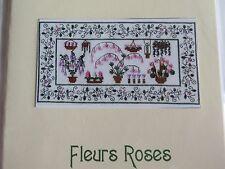 Sale 50% Off Jardin Secret Counted X-stitch chart - Fleurs Roses