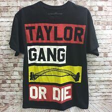Men's Taylor Gang Or Die Wiz Khalifa Hip Hop Rapper Color Block Black T-Shirt LG
