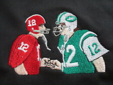 Nike JOE NAMATH No 12 ALABAMA CRIMSON TIDES / NEW YORK JETS Embr (MD) Polo Shirt