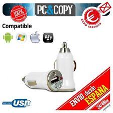 Cargador mini mechero coche USB 1A para movil tablet car 12-24v 1000mA BLANCO