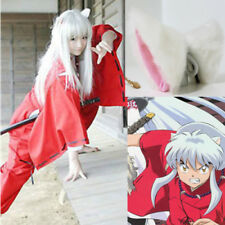 Inuyasha Wig Silver White Hair Cosplay Wigs + Wig Cap + Ears