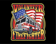 Firefighter Decals Vinyl Stickers Fire Truck with American Flag