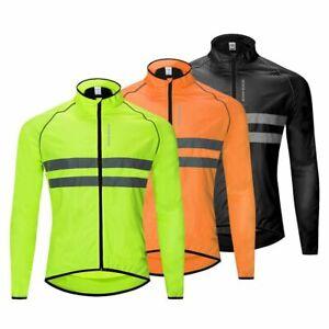 Men's Cycling Jacket Light Reflective Waterproof Windproof Mountain Bike Vest