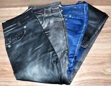 1 ST Slim Jeans Leggings L 42/44 BLACK NERO snello effetto Donna Pantaloni Nuovo *