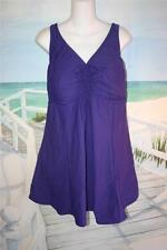 24 HOT PURPLE SWIMDRESS BABYDOLL STYLE 24W BATHING SUIT EMPIRE WAIST 2X