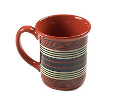 Pendleton Woolen Mills Geometric Red Blanket Coffee Mug Cup Mesa Verde Tribal