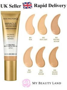 Max Factor Miracle Second Skin Hydrating Foundation, Sealed - Choose Your Shade