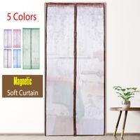 Magnetic Soft Curtain Bedroom Door Window Fly Mosquito Screen Bug Net 3.3X6.9FT