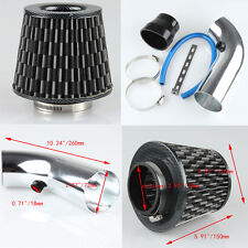 Universal 3'' 75mm Dry Ram/Turbo/Cold Cone Air Flow Intake Vent Pipe & Filter