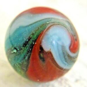 "Highly Twisted Vintage Peltier Multicolored Miller Swirl Marble .60"" Marble #104"