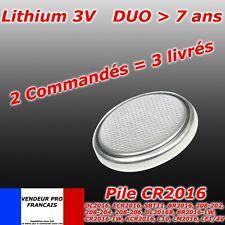 Pile bouton CR2016 Lithium  télécommande voiture montre