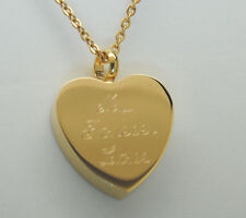 MY FOREVER LOVE CREMATION URN NECKLACE GOLD HEART CREMATION JEWELRY MEMORIAL