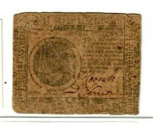 """$7 """"OLD COLONIAL""""  1775 """"OLD COLONIAL"""" $7 RARE 1775 NICE NOTE!! $7 RARE !!!! $7"""