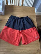 Mens Nike Dri Fit Shorts Medium Black Red Gym Sport Running
