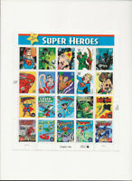 USPS 2005  DC COMICS SUPER HEROES 20 Stamps Full  Sheet  of 29c Stamps
