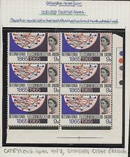 GREAT BRITAIN 1965 ITU 9d  (PHOS) SCARCE ERROR TWO PHOSPHOR BANDS SG683pb MNH