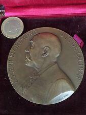 MEDAILLE BRONZE MEDAL J.LORIMOND DUC de LOUBAT ACADEMIE F.VERNON 1910 ETUI 7,3cm