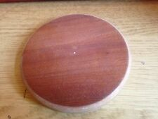 3 Unfinished MDF MAHOGANY VANEERED  - CIRCLE BASE  BASE SIZE 4 inch Diameter