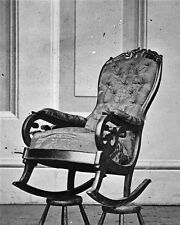 New 8x10 Photo: Slain President Abraham Lincoln Rocking Chair at Ford's Theatre