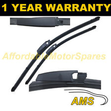 """DIRECT FIT FRONT AERO WIPER BLADES PAIR 22"""" + 22"""" FOR SEAT EXEO 2009 ON"""