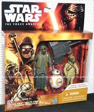 "Star Wars The Force Awakens 3.75"" Figures BB-8 Unkar's Thug Jakku Scavenger"