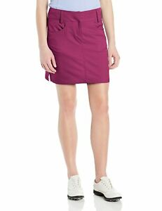 Adidas Womens Size 8  Golf Women's Climacool 3-Stripes Skort Berry NWT Msrp $70