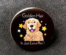 Golden Retriever Pinback Button Badge Handmade Metal Dog Pin Gifts Accessories