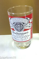 Budweiser beer glass barware Anheuser-Busch brewery tavern pub saloon club HR3
