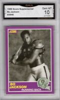 GMA 10 GEM Mint BO JACKSON 1989 Score Black & White ICONIC Oakland Raiders Card!