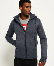 Superdry Expedition Ziphooddenim Light Grey Twist Felpa in Maglia Da Uomo Colore XXL