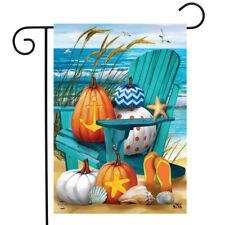 """Fall At The Beach Garden Flag Autumn Nautical Pumpkins 12.5""""x18"""" Briarwood Lane"""