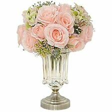 La.Ponee 2 Pack Fake Rose Flowers Wedding Bouquets Holding Artificial Flowers.
