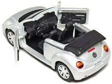 "New 5"" Volkswagen New Beetle Convertible 1/32 diecast model toy car vw Silver"