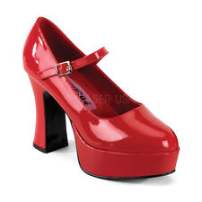 Red Platform Ruby Slippers Dorothy Mens Drag Queen Heels Costume Shoes 12 13 14