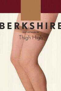 Berkshire Sheer Leg Thigh-Hi Ivory Stockings Size Queen 1