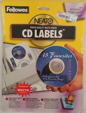 CD DVD Disc Labels Fellowes Neato Photo Quality Matte Finish Peel & Stick 99941