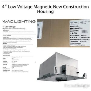 WAC Lighting HR-8403H Recessed Low Voltage New Construction Housing Magnetic Tra