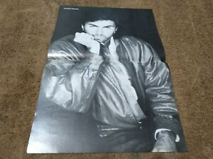 GEORGE MICHAEL JOHN TAYLOR 2 SIDED CENTERFOLD CLIPPING POSTER FROM MAGAZINE 80S