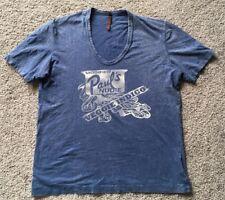 "NUDIE JEANS Medium Blue T-Shirt ""Modified Paul's Veggie Indigo"""