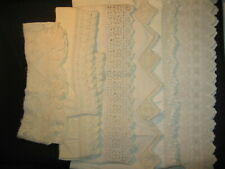 l905 7pc Vintage Pillow Case Lace Crochet Edge Trim Fashion Linen Fashion